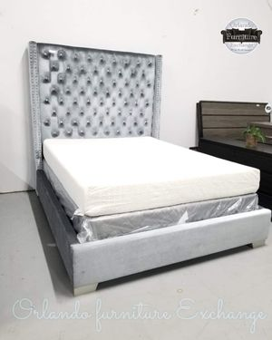 $399!!!! SALE❗ SALE❗ SALE❗ WE DELIVER!!!!!! 💎BRAND NEW VELVET QUEEN FABULOUS BED FRAME!!!!! for Sale in Oviedo, FL