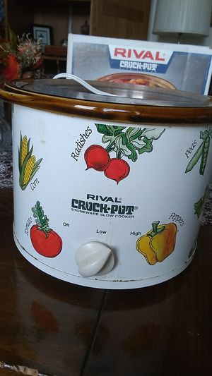 Vintage Rival Crock-pot stoneware slow cooker for Sale in Freeland, PA
