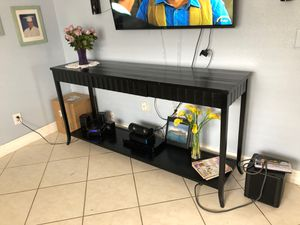 Console table. Has to go ASAP new furniture coming in. Real wood in good condition for Sale in Miami, FL