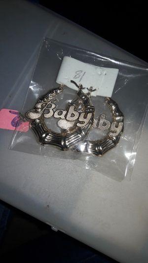 """"""" Baby """"Earrings hoops for Sale in Greenville, SC"""