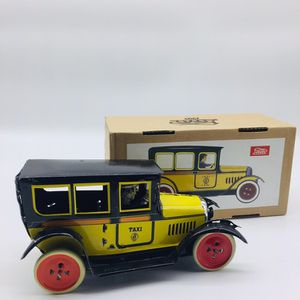 Vintage Wind-up Tin Toy Yellow Taxi Cab by Faya Toy Company (new in the box) for Sale in Bellwood, IL