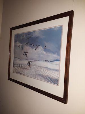 25x20 Framed Geese for Sale in Elgin, SC