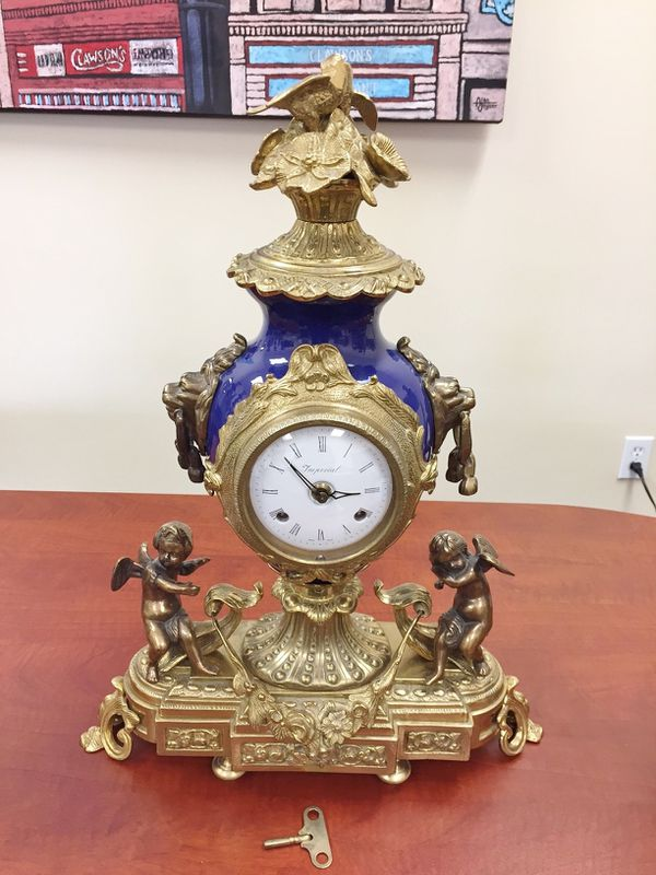 Imperial Brevettato clock & candelabra