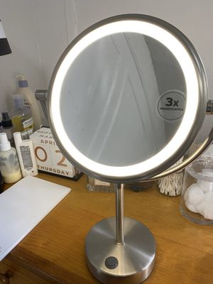 Ikea Kaitum Round Vanity Mirror with Light for Sale in New York, NY