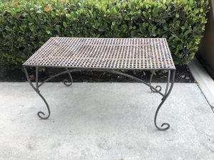 Vintage Rustic Woven Metal Table Great for Vintage Garden for Sale in Irvine, CA