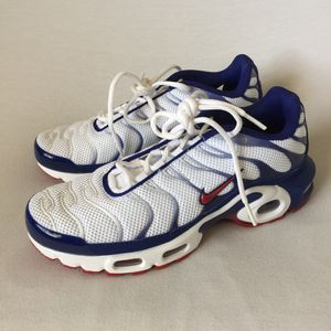 Nike Air Max Plus Red White Blue USA Running Shoes Men's Size 7.5 for Sale in Las Vegas, NV