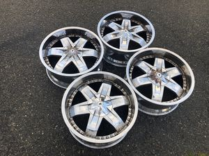 20 inch aluminum truck wheels, fit multiple bolt patterns for Sale in Mukilteo, WA