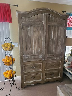 Unique solid wood storage cabinet for Sale in Gilbert, AZ