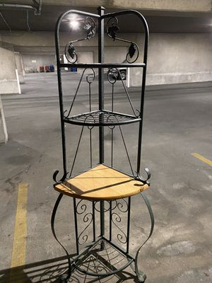 Metal and wood corner shelf for Sale in Avon, OH