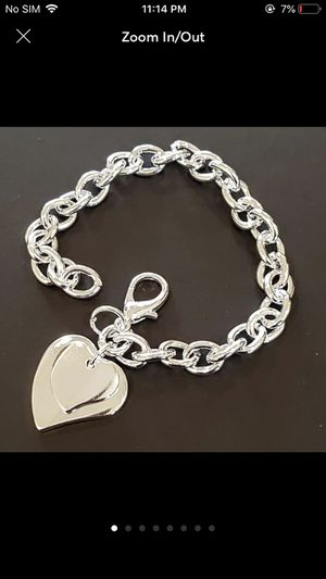 Sterling silver plated bracelet double hearts for Sale in Spencerville, MD