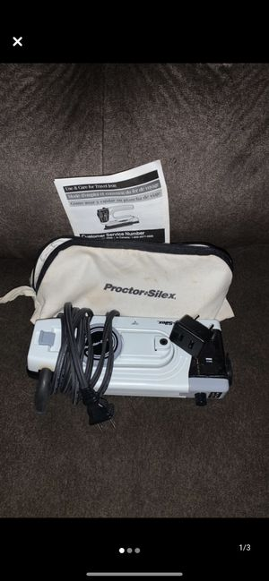 Proctor Silex travel iron for Sale in Halifax, PA