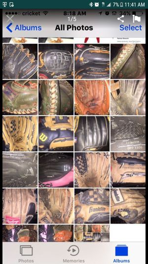 youth baseball gloves! already broken in ready to play ball for Sale in Peabody, MA