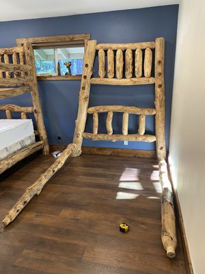 Log bunk bed twin/full for Sale in Belmont, CA