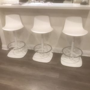 Set of three authentic coalesse white bar stools for Sale in Los Angeles, CA