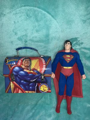 Superman 1996 Action Figure Toy and Lunchbox for Sale in Staten Island, NY