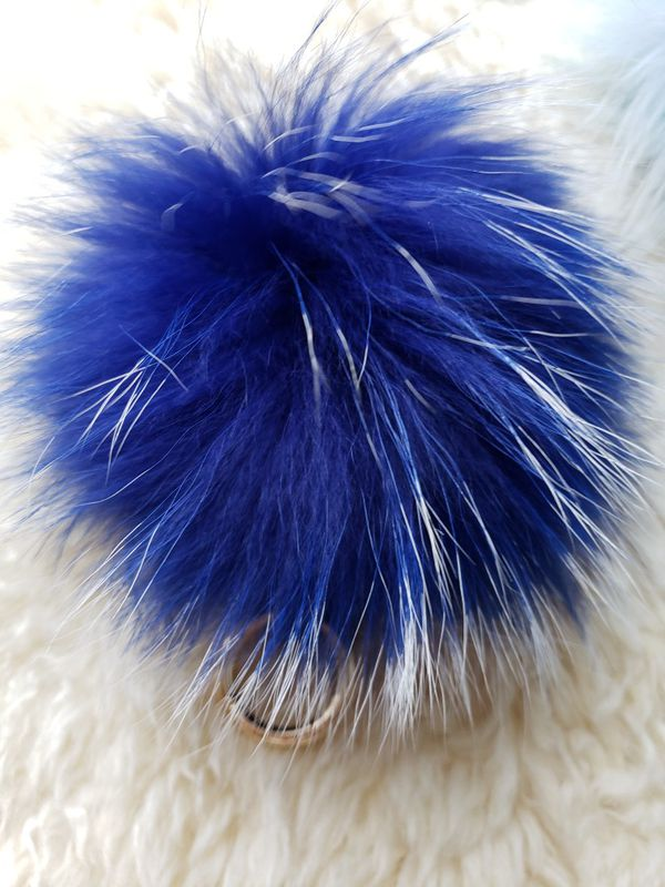 "15cm/6"" Genuine Fox Fur Pom Pom Keychains $18 Each"