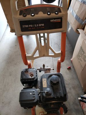 Generac Pressure Washer w hose, gun, and attachments for Sale in Houston, TX
