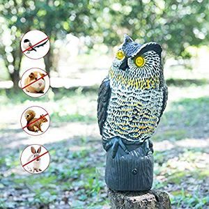 CO-Z Solar Powered Fake Plastic Owl Decoy to Scare Birds Away Outdoor Bird & Pest Deterrent Repellent with Motion Activated Lighting Eyes and for Sale in Anaheim, CA
