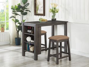 Gray 3PC Wood Pub Height Dining Set *BRAND NEW* for Sale in Columbia, MD