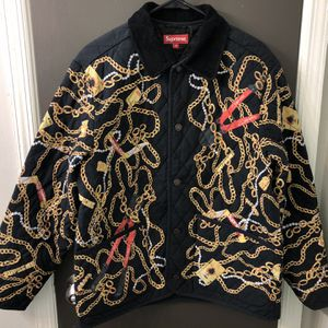 BRAND NEW 100% Authentic SUPREME Chains Quilted Jacket Size M Black for Sale in Atlanta, GA