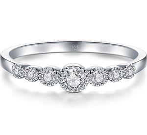 925 Sterling Silver Ring, Cubic Zirconia CZ Engagement Wedding Band Ring for Sale in Louisville, KY