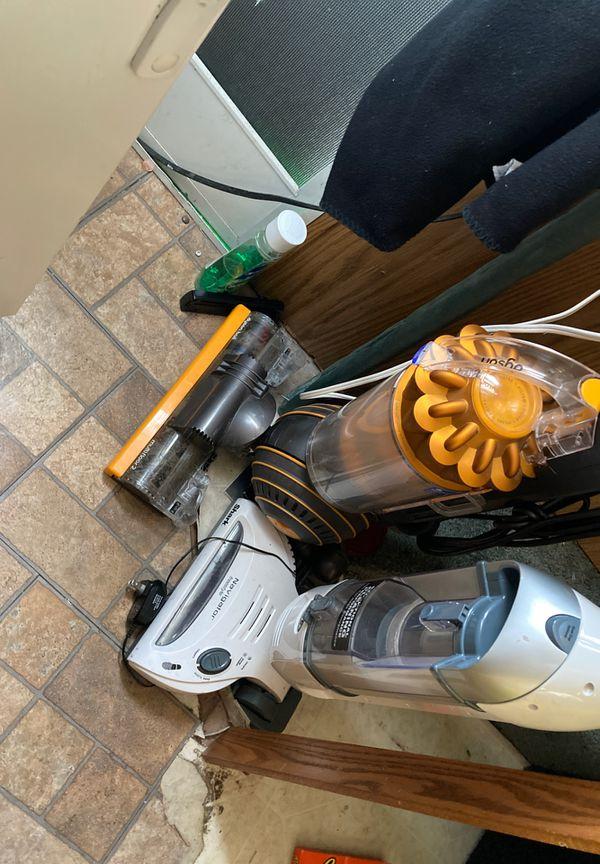 Dyson and shark vacuum