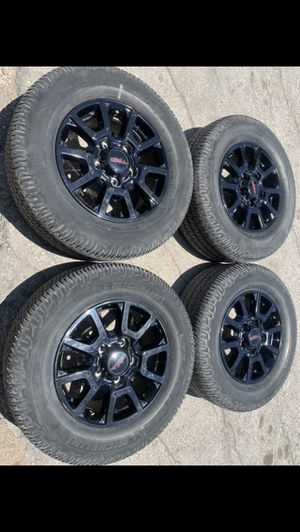 "Like new Toyota TRD Black Rims And New Tires 18"" 18 TSS Wheels Tundra Rines y Llantas Take offs off takeoffs pull pulloffs stock stocks factory orig for Sale in Dallas, TX"