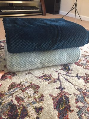 Two throws & blankets for Sale in Stoughton, MA