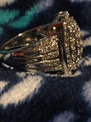 2 carat 10kt white gold engagement ring large ring for Sale in Garland, TX