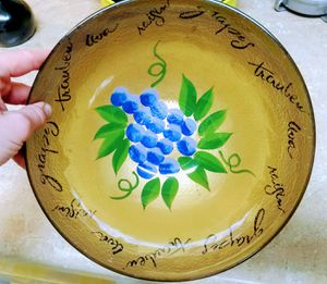 "12"" XL Home Decor Hand painted Bowl for Sale in Portland, OR"