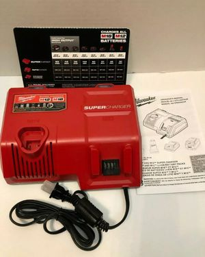 NEW! Milwaukee SUPER CHARGER M18 M12 Dual Battery Charger HIGH OUTPUT XC HD RED lithium 18V 12V 48 11 1811 Rapid 8 9 12 for Sale in Battle Ground, WA