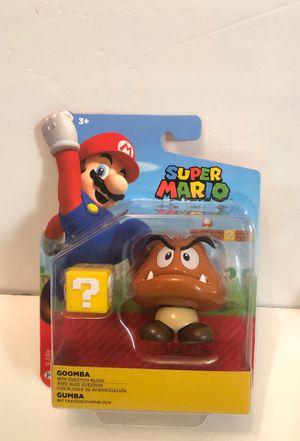 "Super Mario Goomba With Question Block 4"" Action Figure Nintendo Jakks Pacific for Sale in Las Vegas, NV"