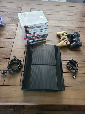 PS3 with games and 2 controllers for Sale in Buena Park, CA