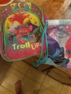 Troll back pack and tote for Sale in Sterling Heights, MI