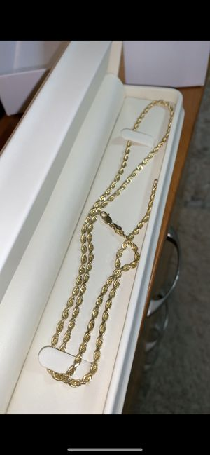 Solid 10K Gold Rope chain for Sale in Cibolo, TX