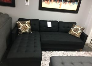 Brand New Reversible Black Linen Sectional Sofa Couch for Sale in Arlington, VA