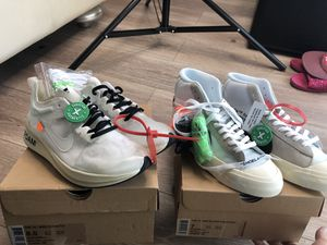 Off-White Nike Blazer Mid & Off-White Nike Zoom Fly for Sale in Miami, FL