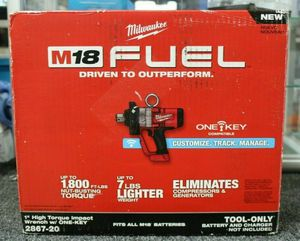 Milwaukee M18 ONE-KEY FUEL 18-Volt Lithium-Ion Brushless Cordless 1 in. Impact Wrench with Friction Ring (Tool-Only) for Sale in Stickney, IL