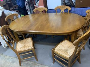 Maple Dining Kitchen table with six chairs for Sale in Baden, PA