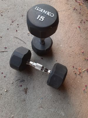15 lbs dumbbells for Sale in Fresno, CA