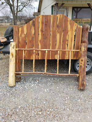 Queen size cedar bed frame for Sale in Tioga, TX