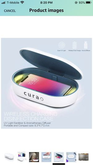 UV phone sanitizer sterilizer wireless charger for Sale in Bothell, WA