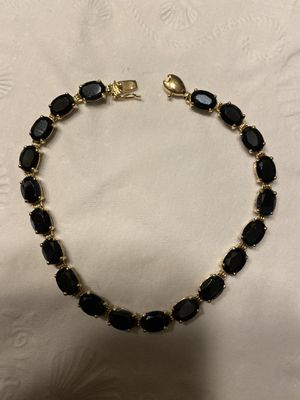 10k gold sapphires bracelet 7.5 inches for Sale in Weymouth, MA
