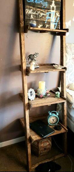 Solid wood leaning ladder shelf for Sale in Oak Lawn,  IL