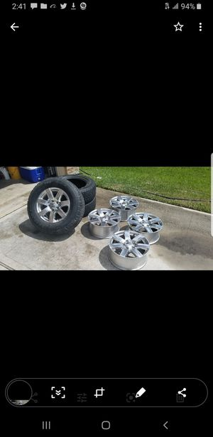 3 Bridgestone Jeep Tires and 5 wheels for Sale in Spring, TX