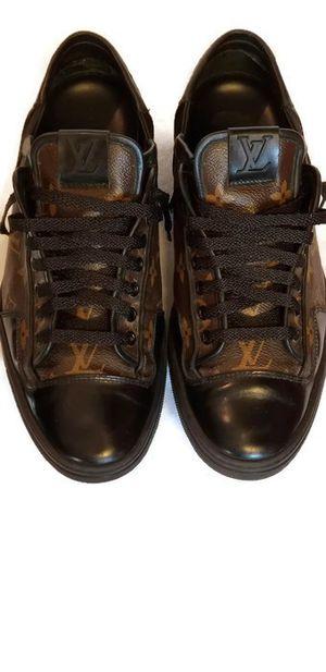 Men's Louis Vuitton Monogram Slalom Low Top Sneaker Size 7.5 LV/8.5 US Brown Black for Sale in Burlington, NC