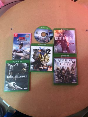 Video games (4 xbox games) (1 nintendo switch game) for Sale in Hilliard, OH