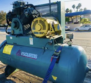 Industrial Air Compressor (120 gallon tank with Baldor 15hp Motor) for Sale in Riverside, CA