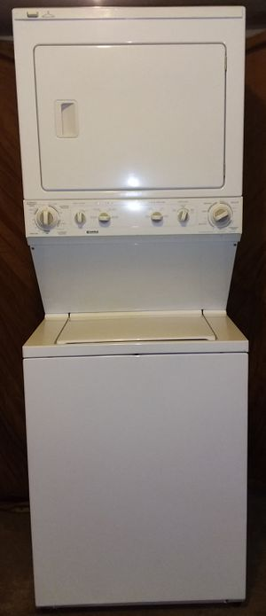 "Like New KENMORE stacked full size washer and electric dryer 27"" for Sale in Houston, TX"