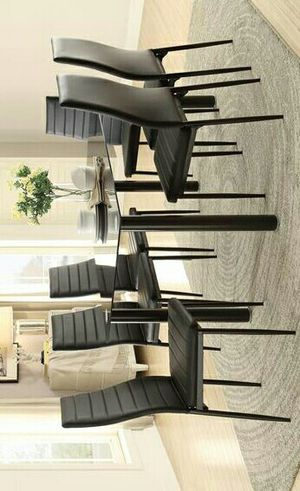SPECIAL] Florian Black Dining Set   5538 & Ask Dining table and chairs & dinette set for Sale in Houston, TX